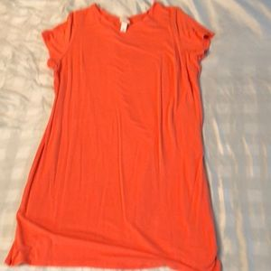 Coral T-Shirt Dress